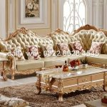 kursi sudut sofa jati mewah untuk ruang tamu