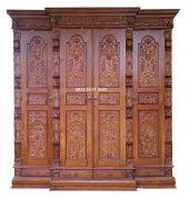 Lemari Gebyok 4 Pintu kayu jati istimewa