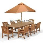 teak garden furniture chair umbrella Jepara